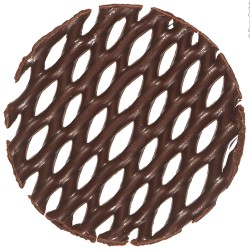 Chocolade fans & fantasie - Mini Cake Tops Round