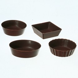Chocolade cups - Small Shaped Cups