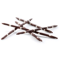Chocolate Sticks & Rolls - Rembrandt Dark & White