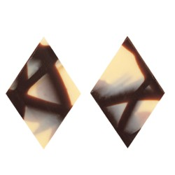 Çikolatadan Fantastik Dekorlar - Jura Rombus White & Dark