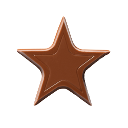 Étoiles en chocolat - Chocolate Stars Lait