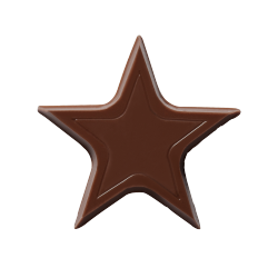 Chocolade sterren - Chocolate Stars Donker