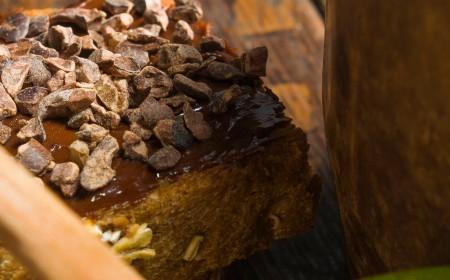 Tartine croustillante au cacao