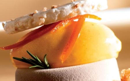 Parfait au chocolat et kulfi à la mangue