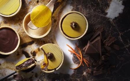 Tangy orange chocolate tartlet