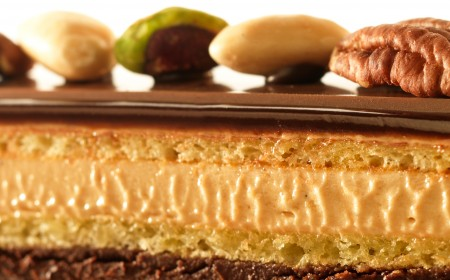 Opera cake with pecans