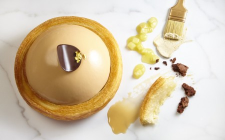 Apple croissant tart