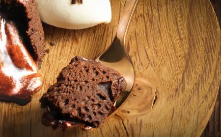 Petit gâteau de chocolate ao leite