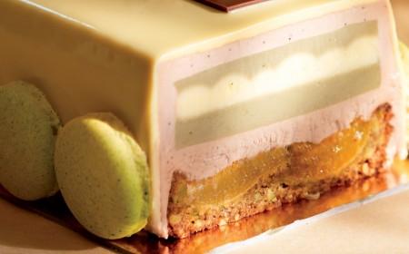 Pistachio, apricot and lemon pastry
