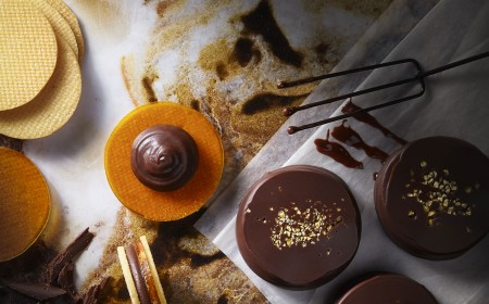 Passion fruit and mango chocolate biscuit