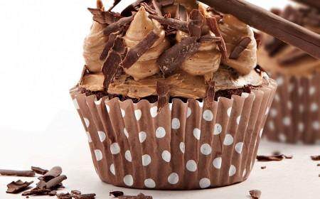 Chocolate and coffee cupcake