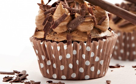 Chocolate and coffee cupcake