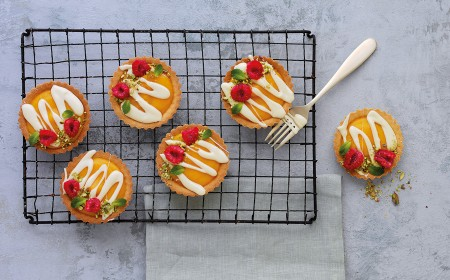 White Chocolate and Mango Tartlets