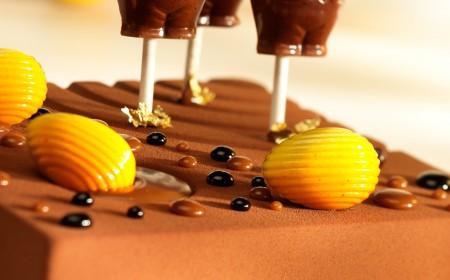 Hazelnut and Java chocolate mousse