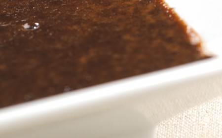 Bitter çikolatalı crème brûlée