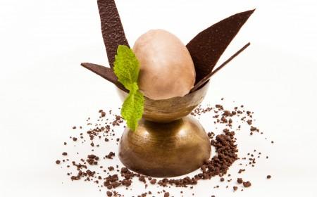 Chocolate and mint ice cream