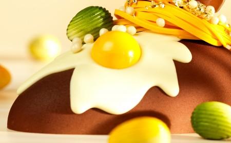 Velikonoční dezert ve velikonočním vejci