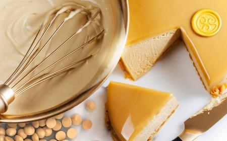 Gold chocolate bavarois