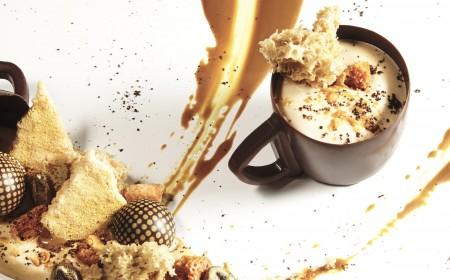 Golden koffiecup dessert