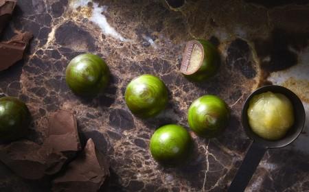 owocowe  praliny na bazie wody z jabłkami i cynamonem