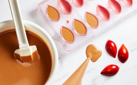 Ruby pralinéfüllung für geformte bonbons