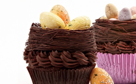 Triple chocolate Easter cupcake
