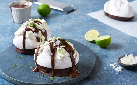Chocolate & Lime Meringue Nests
