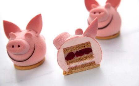 Różowa świnka