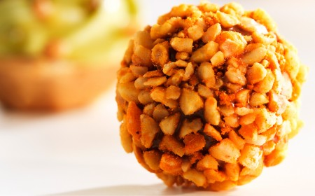 Crunchy orange hazelnut truffle