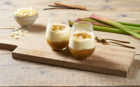 White Chocolate & Rhubarb Mousse