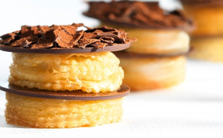 CHOCRO-DONUT� with chocolate custard