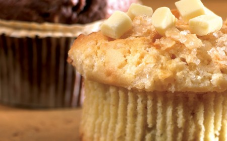 Muffin de chocolate blanco