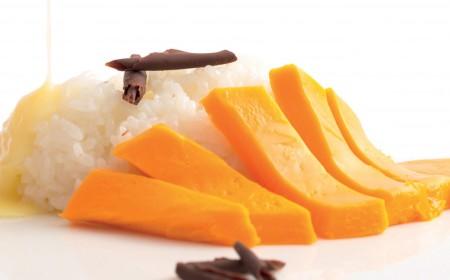 Chocolate sticky rice