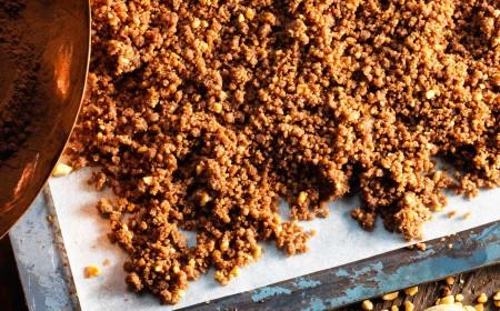 Cocoa crumble