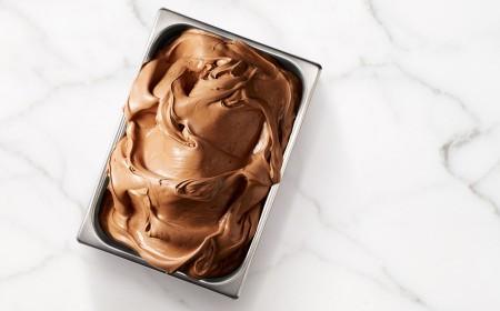 Gelato au chocolat classique