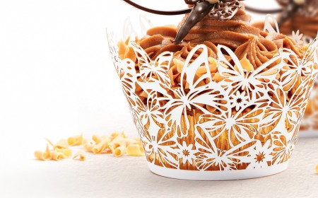 Celebration or wedding cake cupcake