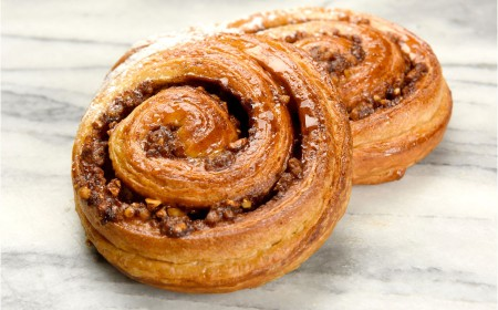 Danish nut paste swirl