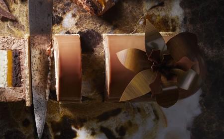 Spiced chocolate xmas yule log