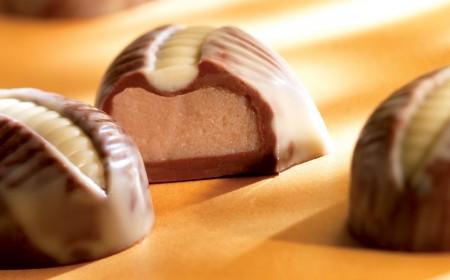 Chestnut and white chocolate ganache