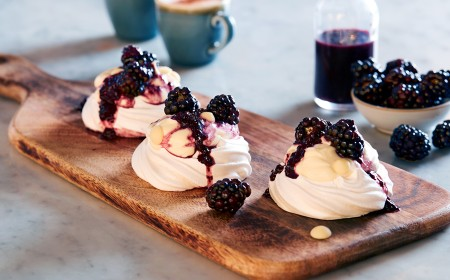 Mini Fruit Pavlovas with White Chocolate Cream