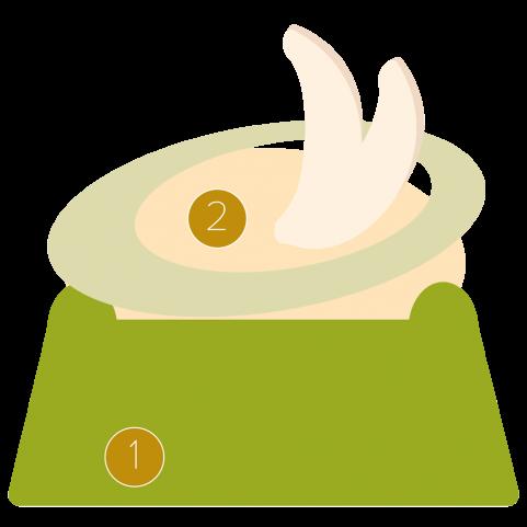 White chocolate mousseline and pistachio financier
