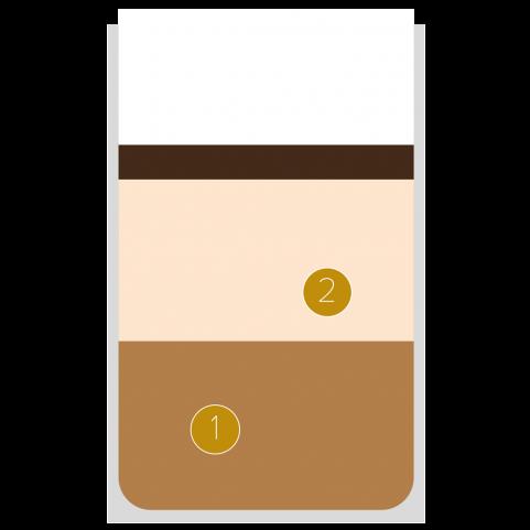 Chocolade en vanilleroom