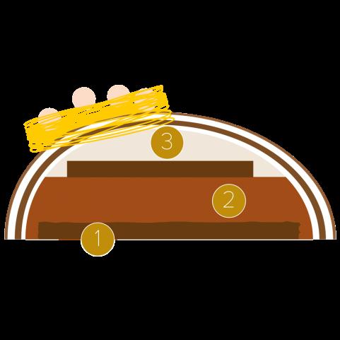 Easter cake in an easter egg