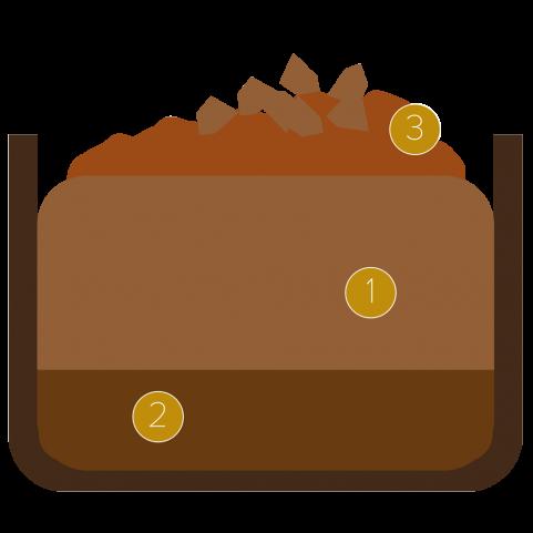 Coppetta di cioccolato con birra trappista e cioccolato fondente