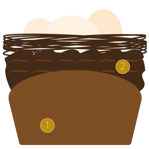 Triple chocolate Easter cupcake