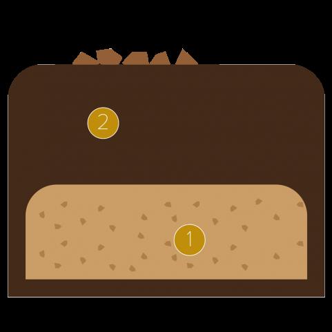 Brazil ganache and cashew praline stick