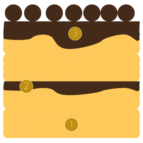 CHOCRO-DONUT™ con custard al cioccolato