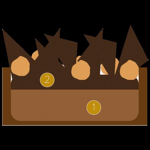 Tartaleta de crema de chocolate