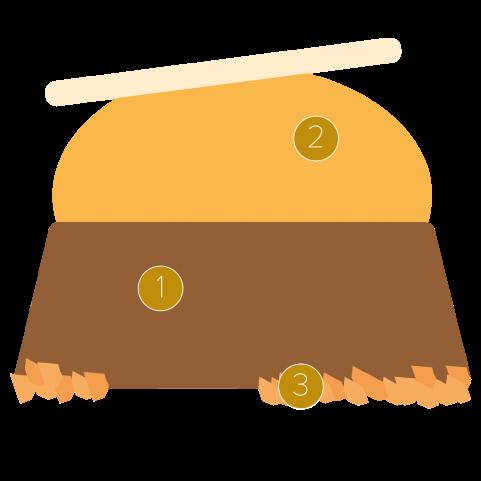 Chocoladeparfait en mangokulfi