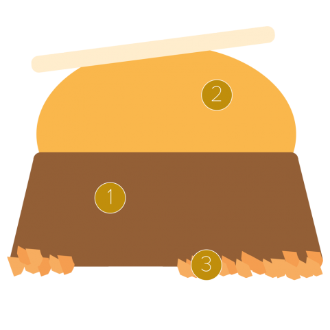 Schokoladenparfait und Mango-Kulfi